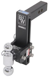 "B&W Tow & Stow 2-Ball Mount - 2"" Hitch - 9"" Drop, 9-1/2"" Rise - 10K - Black"