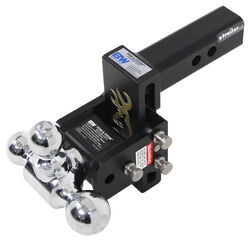 "B&W Tow & Stow 3-Ball Mount - 2"" Hitch - 5"" Drop, 5.5"" Rise - 10K - Browning"