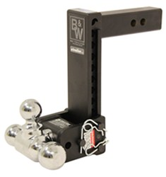 "B&W Tow & Stow 3-Ball Mount - 2"" Hitch - 9"" Drop, 9-1/2"" Rise - 10K - Black"