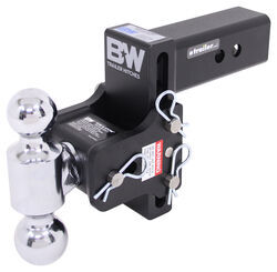 "B&W Tow & Stow 2-Ball Mount - 2-1/2"" Hitch - 4-1/2"" Drop/Rise - 14.5K - Black"