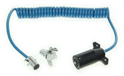 Blue Ox 7-Wire to 4-Wire, Coiled Electrical Cord - 7' Long