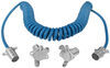 Blue Ox 4-Wire, Coiled Electrical Cord with 4-Way, Round Plugs