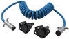 Blue Ox 6-Wire, Coiled Electrical Cord with 6-Way, Round Plugs