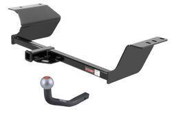 "Curt Trailer Hitch Receiver w/ Euro Drawbar - 2"" Ball - Custom Fit - Class I - 1-1/4"""