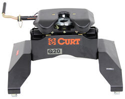 Curt Q20 5th Wheel Trailer Hitch for Chevy/GMC Towing Prep Package - Dual Jaw - 20,000 lbs