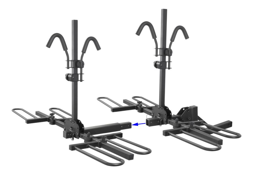 curt 4 bike platform rack - 2 u0026quot  hitches