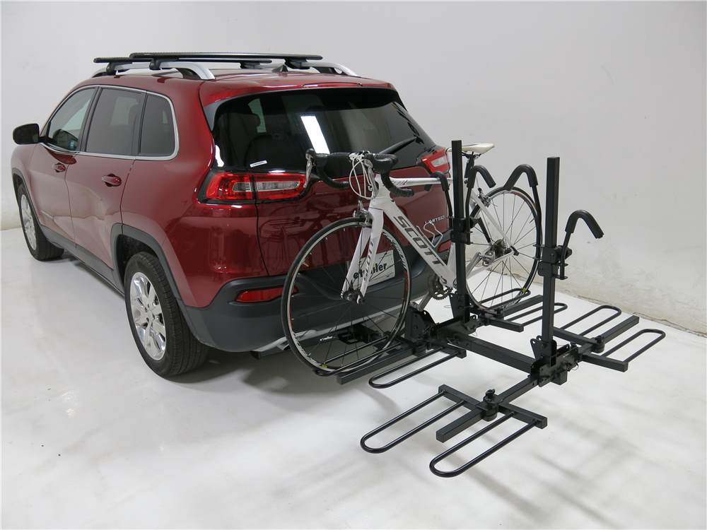 curt 4 bike platform rack 2 hitches frame mount. Black Bedroom Furniture Sets. Home Design Ideas