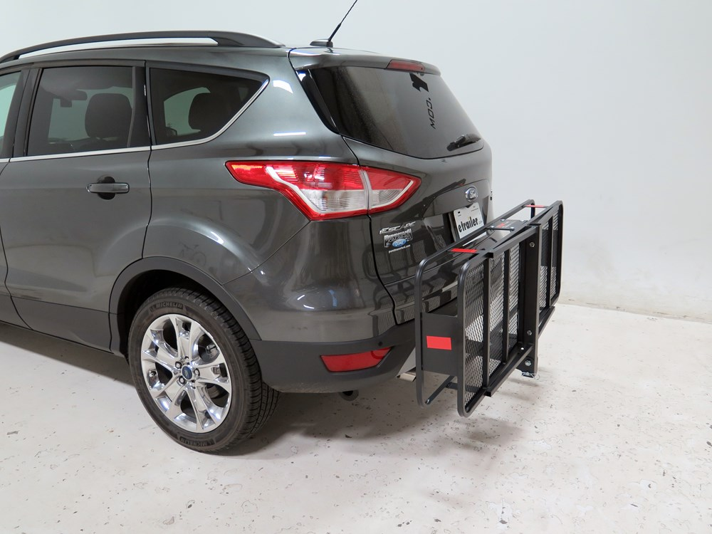 2015 ford escape 20x60 curt cargo carrier for 2 hitches steel folding 500 lbs. Black Bedroom Furniture Sets. Home Design Ideas