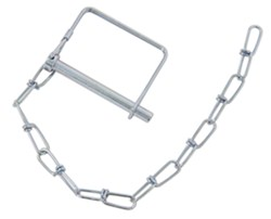 "Curt Coupler Safety Pin - 12"" Chain - 5/16"" Pin - Zinc Finish"