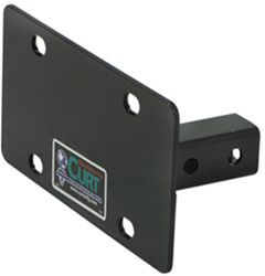 Curt Front Mount Trailer Hitch License Plate Holder
