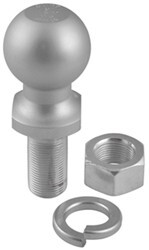 "2"" Hitch Ball - 1"" Diameter x 2-1/8"" Long Shank - Chrome - 6,000 lbs"
