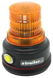 Blazer Amber Warning Beacon - LED - Battery Powered - Magnetic Mount - 4 Flash Patterns