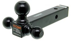 "Curt Multi-Ball Mount for 2"" Hitches - Solid, Black Powder Coated Shank - Black Balls"