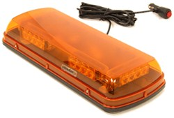 Blazer Amber Warning Light Bar - SAE Class II - LED - 12V - Magnetic Mount - 20 Flash Patterns