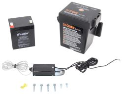 Curt Push-To-Test Trailer Breakaway Kit with Built-In Battery Charger - Top Load