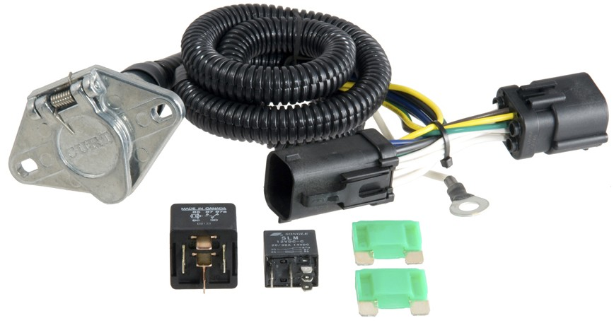 curt t connector vehicle wiring harness for factory tow package 6 way trailer connector