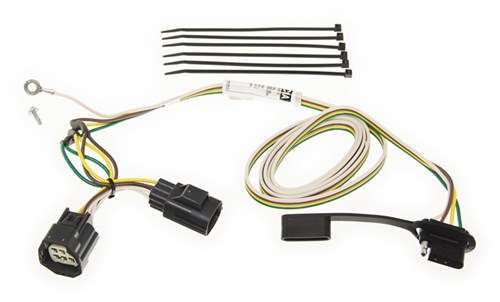 C55124_500 curt t connector vehicle wiring harness with 4 pole flat trailer wiring harness to flat tow jeep wrangler jk at creativeand.co