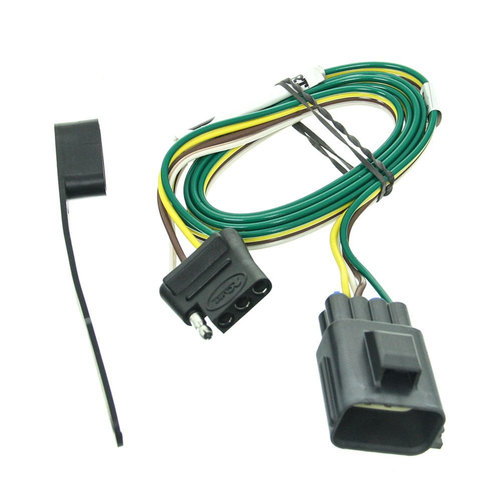 curt tconnector vehicle wiring harness with 4pole flat trailer gm wiring harness to 4 flat curt t-connector vehicle wiring harness for factory tow ... #9