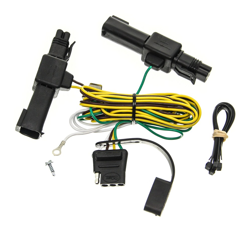 curt t-connector vehicle wiring harness with 4-pole flat ... emergency vehicle wiring harness