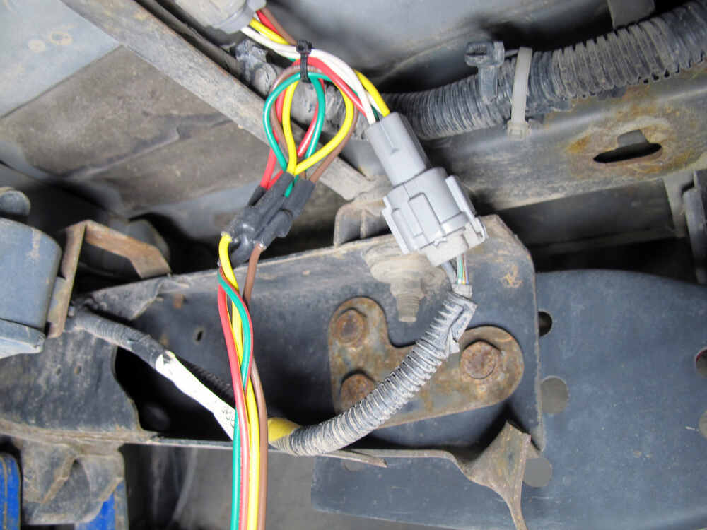Nissan Frontier Wiring Harness Installation : Curt t connector vehicle wiring harness with pole flat