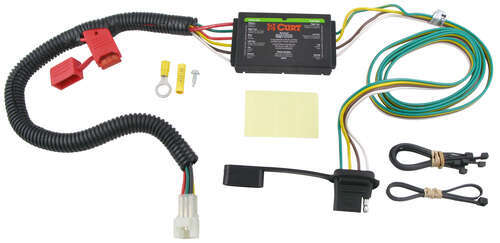 C55370_500 curt t connector vehicle wiring harness with 4 pole flat trailer Curt 7 Pin Wiring Harness at bayanpartner.co