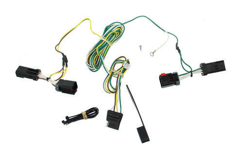 C55534_3_500 tone vehicle wiring harness with 4pole flat trailer connector,T One Vehicle Wiring Harness With 4 Pole Trailer