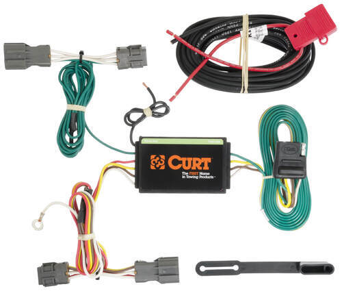 C56184_2_500 curt t connector vehicle wiring harness with 4 pole flat trailer trailer wiring harness clips at bayanpartner.co