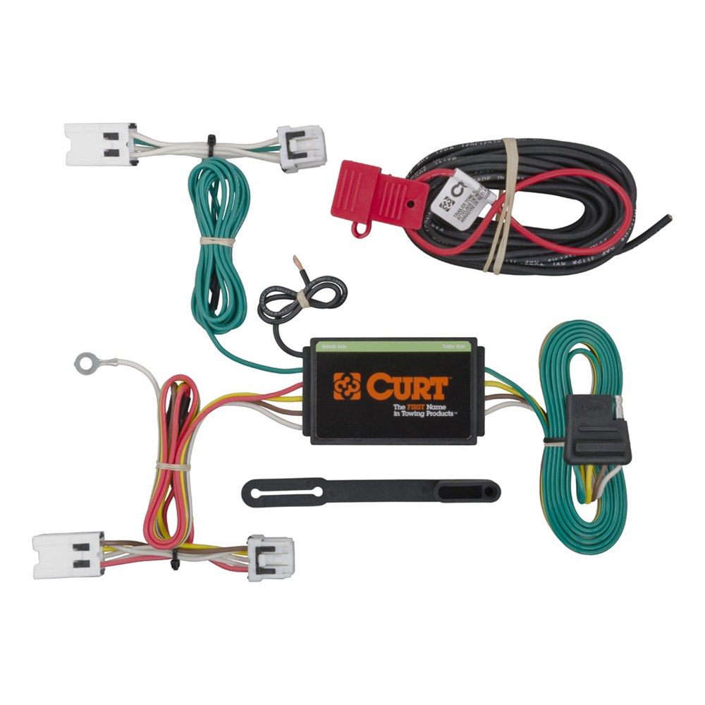 curt t-connector vehicle wiring harness with 4-pole flat ... curt trailer wiring for gm #4