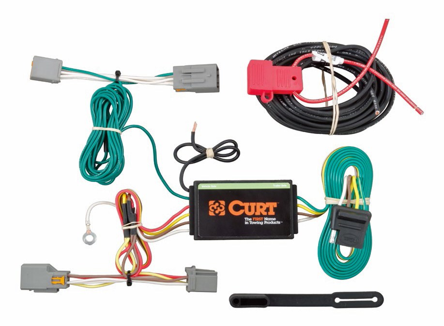 Curt Trailer Plug Wiring Diagram : Ford transit connect custom fit vehicle wiring curt