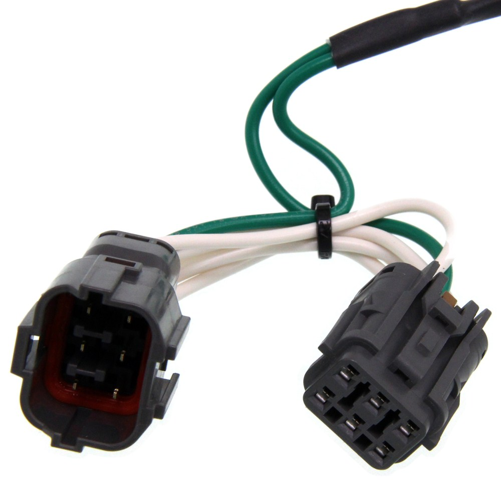 curt tconnector vehicle wiring harness with 4pole flat trailer 5 3l vortec wiring harness with labels