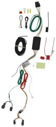 Curt T-Connector Vehicle Wiring Harness with 4-Pole Flat Trailer Connector