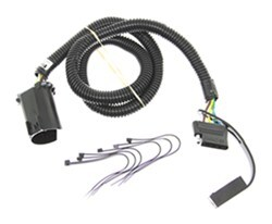 Curt T-Connector Vehicle Wiring Harness for Factory Tow Package - 5-Pole Flat Trailer Connector