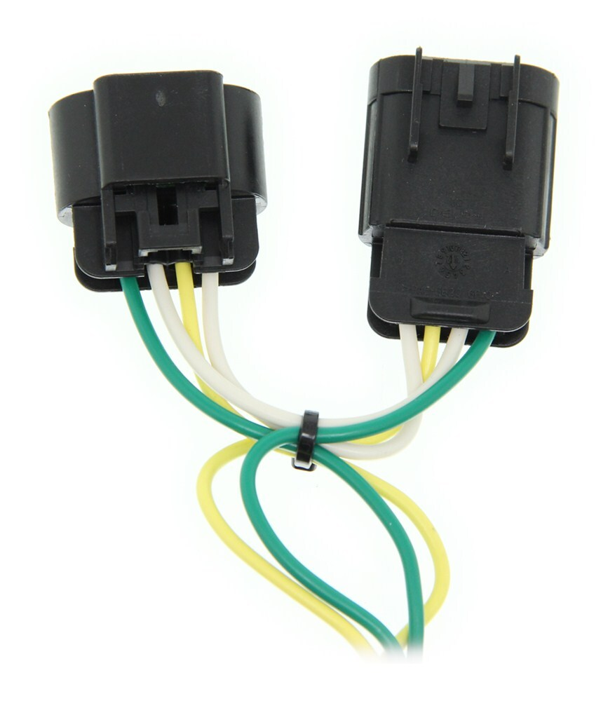 Curt T Connector Vehicle Wiring Harness with 5 Pole Flat