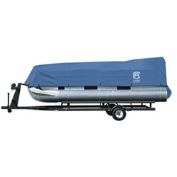 "Classic Accessories StormPro Pontoon Boat Cover - 17' - 20' Long - 102"" Beam - Blue"