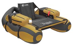 Classic Accessories Backpackable Pontoon Float Tube - The Togiak - Gold and Gray