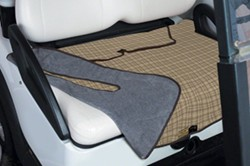 Classic Accessories Fairway Reversible Seat Blanket for Golf Cars - Tan Plaid and Gray