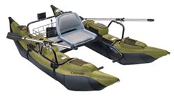 Classic Accessories 9' Pontoon Boat with Padded Seat - The Colorado - Green