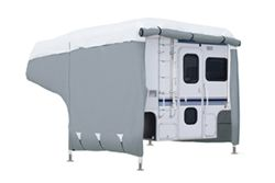 Classic Accessories Deluxe PolyPro III Heavy-Duty Truck Bed Camper Cover - 8' - 10' Long