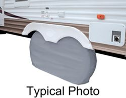 "Classic Accessories Dual-Axle RV Wheel Cover - 64"" Long x 30"" Tall - White"