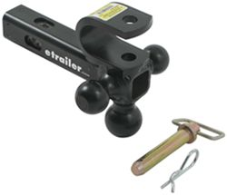 "Convert-A-Ball Cushioned Multi-Hitch Clevis and Pintle Hook Combo w/ 3 Balls - 2"" Hitches - 10K"