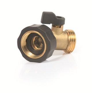 camco garden hose 45 degree shut off valve brass camco rv plumbing cam20173. Black Bedroom Furniture Sets. Home Design Ideas