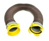 Revolution RV Sewer Hose Extension w/ Swivel Bayonet and Lug Fittings - Brown - 10' Long