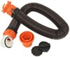 RhinoFLEX RV Sewer Hose w Swivel Fittings, 4-in-1 Adapter, and Storage Caps - 15' Long