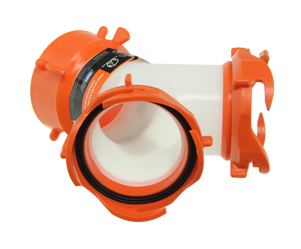 Rhinoflex rv sewer hose quot y fitting camco plumbing cam