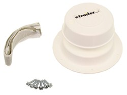 Camco RV Replacement Plumbing Vent w/ Putty and Screws - Polar White