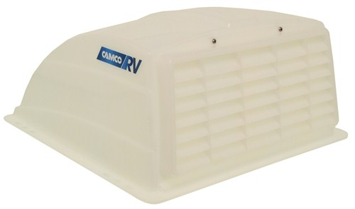 Camco RV And Enclosed Trailer Roof Vent Cover W/ Detachable Louvered Screen    White