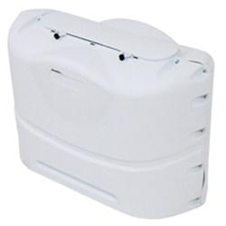 Camco RV Polyethylene Propane Tank Cover for (2) 20-lb Steel Tanks - Polar White