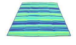 Camco Handy Mat with Blue, Turquoise, and Green Stripes