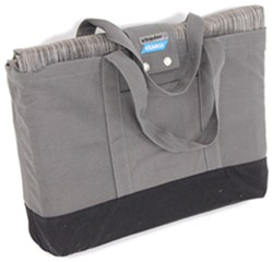 Camco Premium RV Leisure Mat w/ Storage Bag and Stakes - 15' Long x 7' Wide - Gray