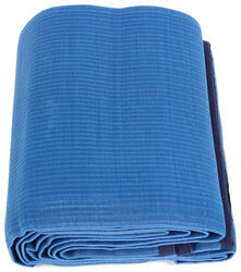 Camco Reversible RV Leisure Mat w/ Stakes - 12' Long x 9' Wide - Blue